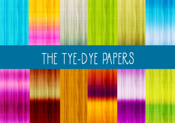 Print on Demand: The Tie-Dye Papers Graphic Patterns By CapeAirForce