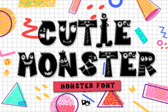 Cutie Monster Display Font By dmletter31