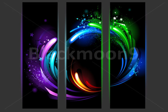 Abstract Vertical Banners Graphic Graphic Templates By Blackmoon9