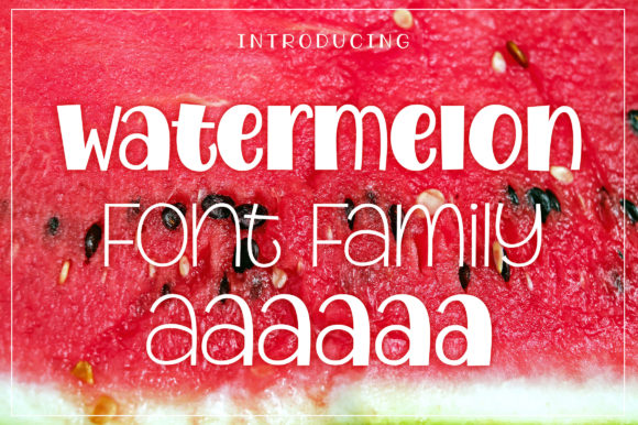 Print on Demand: Watermelon Display Font By Royaltype