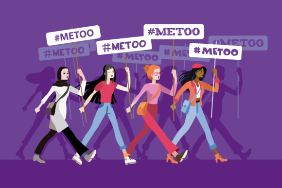 Women in a Metoo March Graphic Illustrations By artica