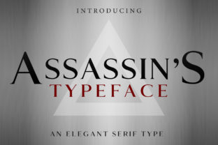 Assassin's Serif Font By denestudios