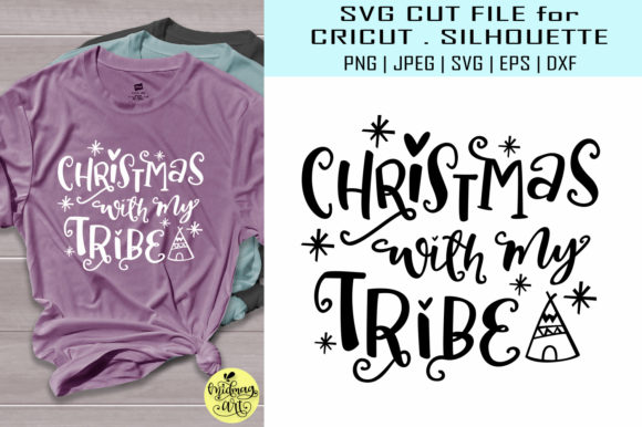 Christmas with My Tribe Graphic Objects By MidmagArt