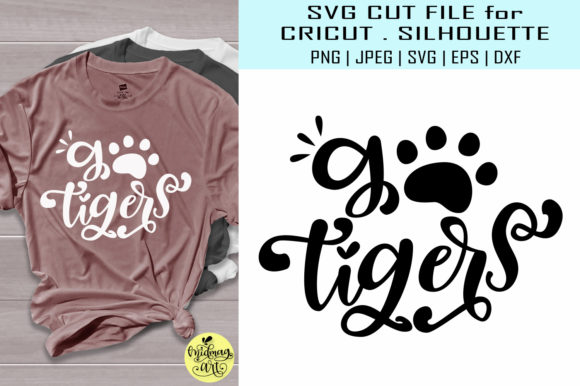 Download Free Go Tigers Graphic By Midmagart Creative Fabrica for Cricut Explore, Silhouette and other cutting machines.