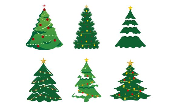 Christmas Tree with Decoration Logo Graphic Logos By DEEMKA STUDIO