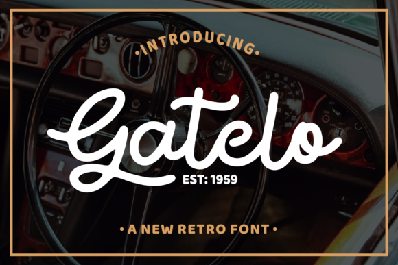 Print on Demand: Gatelo Script & Handwritten Font By LetterBeary