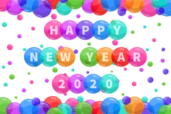 Download Free Happy New Year 2020 Graphic By Noory Shopper Creative Fabrica for Cricut Explore, Silhouette and other cutting machines.