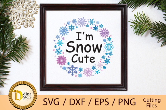 Print on Demand: Svg I Am Snow Cute Graphic Crafts By dina.store4art