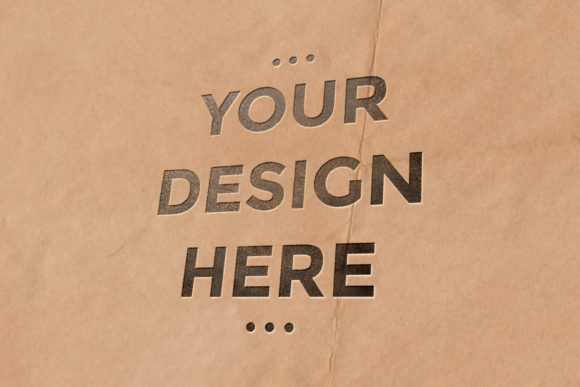 Paper Pouch Letterpress Mockup Template Graphic Product Mockups By suedanstock