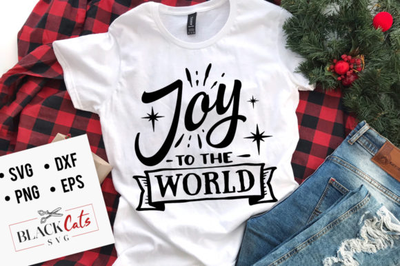 Stars Joy to the World SVG Graphic Crafts By BlackCatsMedia