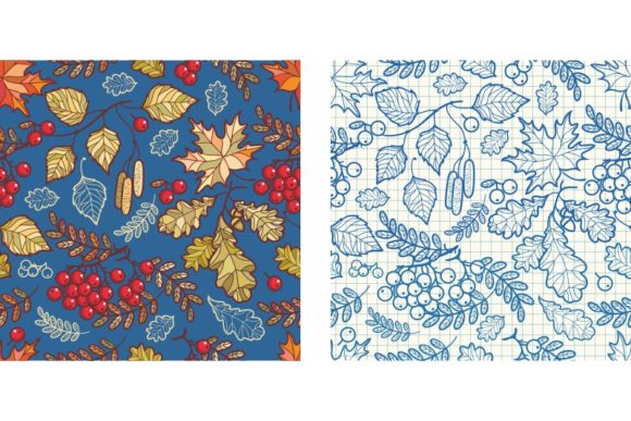 Print on Demand: Autumn Leaves. Seamless Pattern Graphic Illustrations By zoyali
