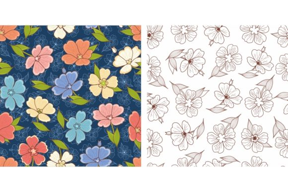 Download Free Floral Seamless Pattern Flowers Graphic By Zoyali Creative for Cricut Explore, Silhouette and other cutting machines.