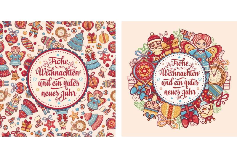 Download Free Frohe Weihnachten German Christmas Card Grafico Por Zoyali for Cricut Explore, Silhouette and other cutting machines.