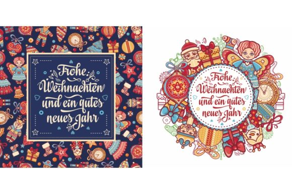 Print on Demand: Frohe Weihnachten. German Christmas Graphic Illustrations By zoyali