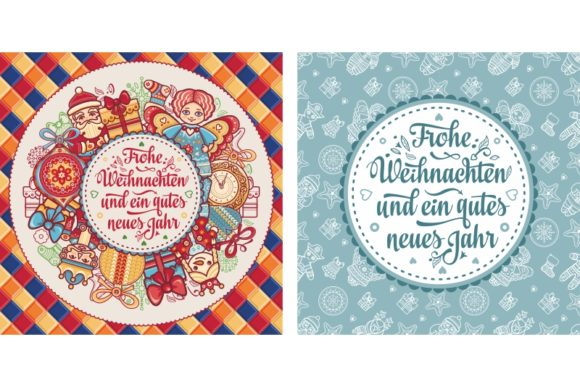 Download Free Frohe Weihnachten German Christmas Card Graphic By Zoyali SVG Cut Files