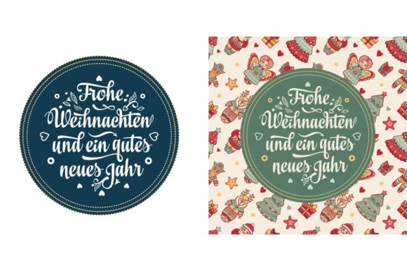 Download Free Frohe Weihnachten German Christmas Grafico Por Zoyali for Cricut Explore, Silhouette and other cutting machines.