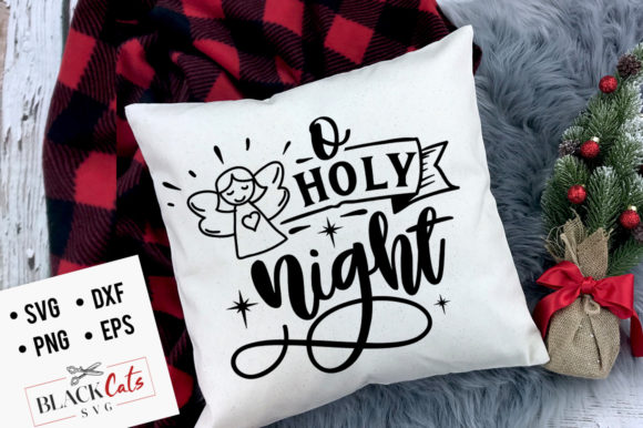 O Holy Night SVG Grafik Designvorlagen von BlackCatsMedia