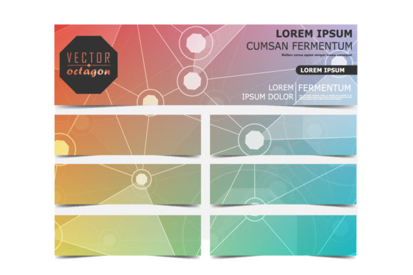 Colored Octagon Banner Graphic Graphic Templates By Manuchi