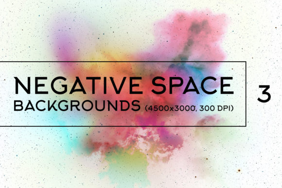 Print on Demand: Negative Space Backgrounds 3 Graphic Backgrounds By freezerondigital