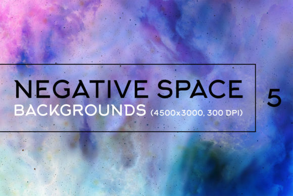 Print on Demand: Negative Space Backgrounds 5 Graphic Backgrounds By freezerondigital