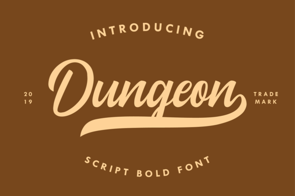 Print on Demand: Dungeon Script & Handwritten Font By Ahgo Studio