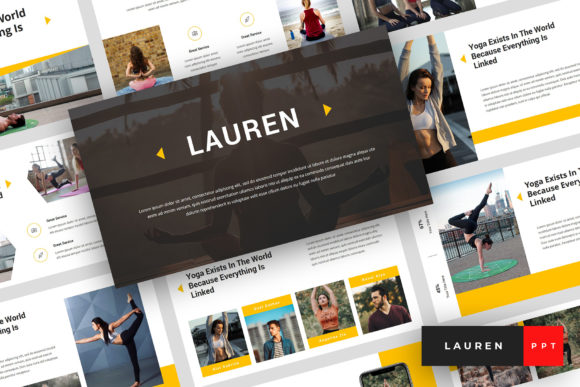 Lauren - Yoga PowerPoint Graphic Presentation Templates By StringLabs