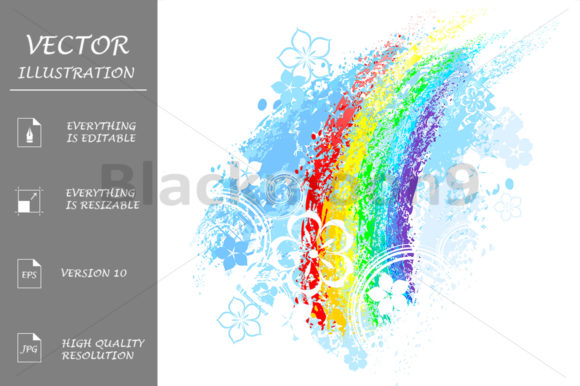 Rainbow Painted Graphic Illustrations By Blackmoon9