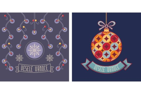 Download Free Czech Christmas Vesele Vanoce Graphic By Zoyali Creative Fabrica for Cricut Explore, Silhouette and other cutting machines.