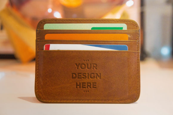 Leather Press Brown Wallet Mock-up Graphic Product Mockups By suedanstock