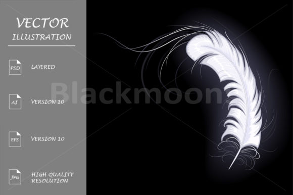 White Feather of the Angel Graphic Illustrations By Blackmoon9