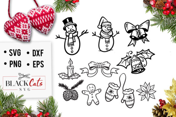 Winter Doodles Graphic Crafts By BlackCatsMedia