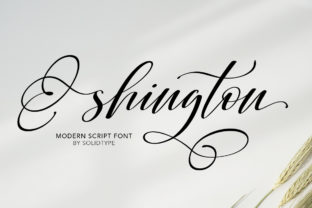 Print on Demand: Shington Script Manuscrita Fuente Por Solidtype