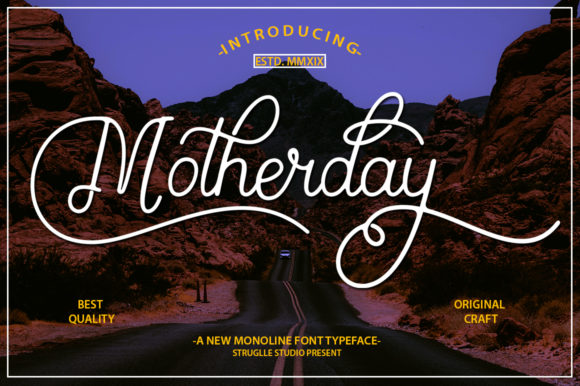 Print on Demand: Motherday Script & Handwritten Font By Struggle Studio