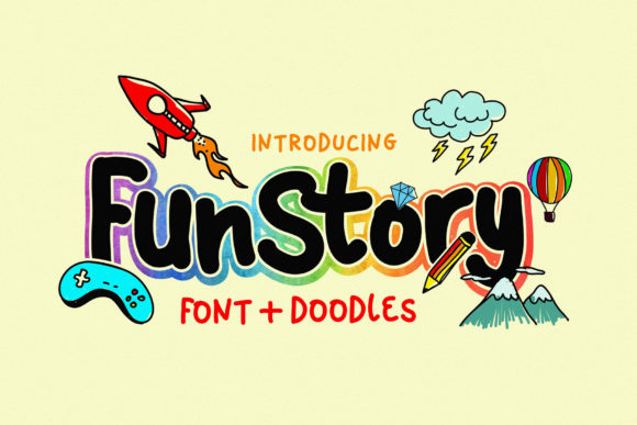 Print on Demand: Fun Story Display Font By 160 Studio