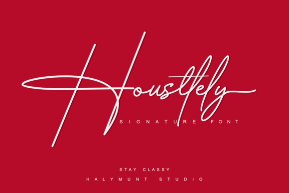 Print on Demand: Housttely Script & Handwritten Font By Halymunt Studio