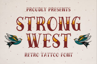 Print on Demand: Strong West Display Font By Blankids Studio