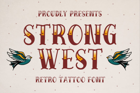 Print on Demand: Strong West Display Font By Bangkit Setiadi
