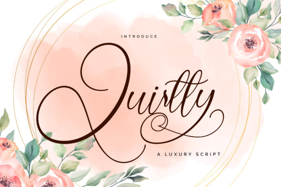 Print on Demand: Quirtty Script & Handwritten Font By Vunira