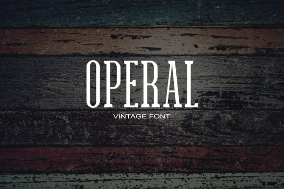 Print on Demand: Operal Serif Font By maxim.90.ivanov