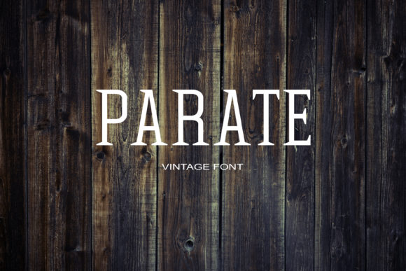 Print on Demand: Parate Serif Font By maxim.90.ivanov