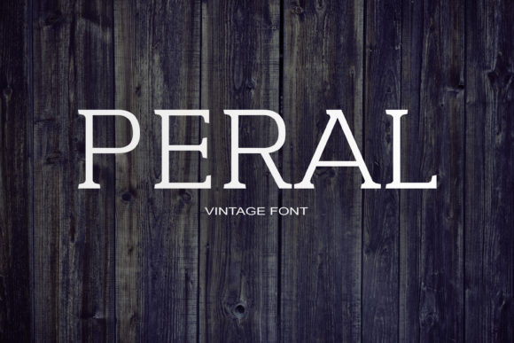 Print on Demand: Peral Serif Font By maxim.90.ivanov