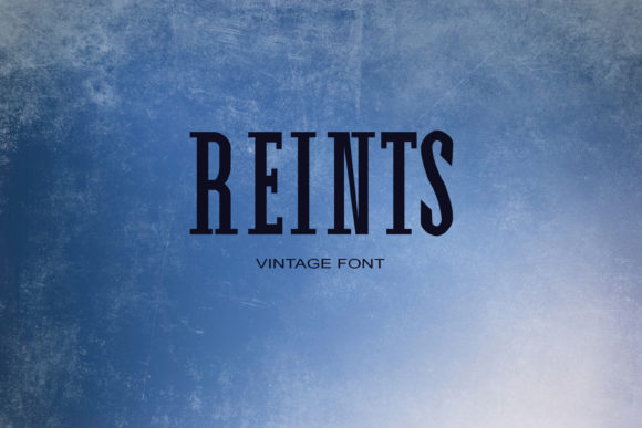 Print on Demand: Reints Serif Fuente Por maxim.90.ivanov