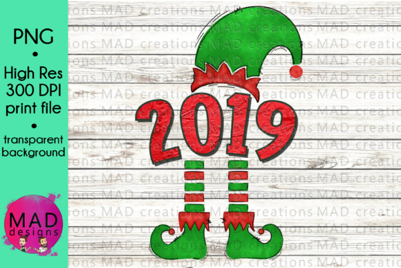 2019 Christmas Elf Graphic Crafts By maddesigns718