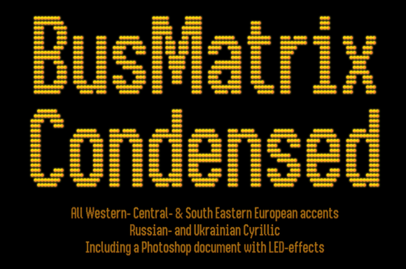 Print on Demand: Bus Matrix Display Font By Studio Dot by dot