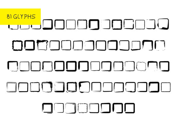 Print on Demand: Rounded Squares Dingbats Font By GraphicsBam Fonts - Image 2