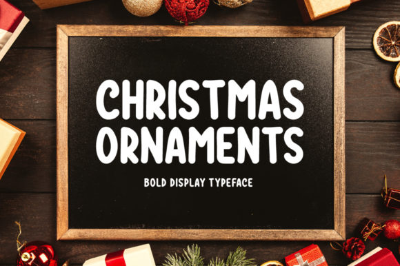 Print on Demand: Christmas Ornaments Display Font By Instagram Fonts