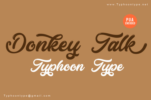 Print on Demand: Donkey Talk Script & Handwritten Font By Typhoon Type - Suthi Srisopha