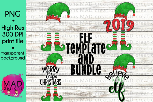 Elf Sublimation Bundle Graphic Crafts By maddesigns718