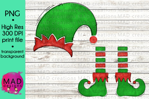 Sublimation Christmas Elf Graphic Crafts By maddesigns718