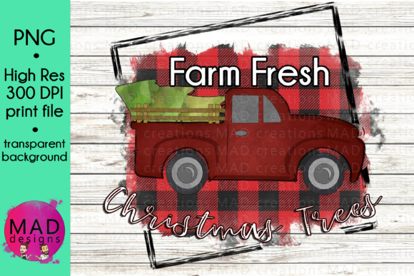 Farm Fresh Christmas Trees Graphic Crafts By maddesigns718